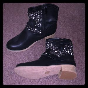 Shoes - STUDDED BLACK BOOTS NWT
